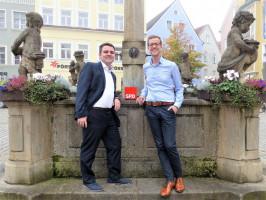 Alexander Maraju mit dem SPD Kreisvorsitzenden Dominik Streit