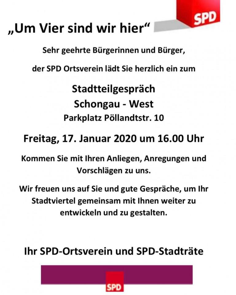 Um Vier sind wir hier - Stadtteilgespräch Schongau West Pöllandtstr.